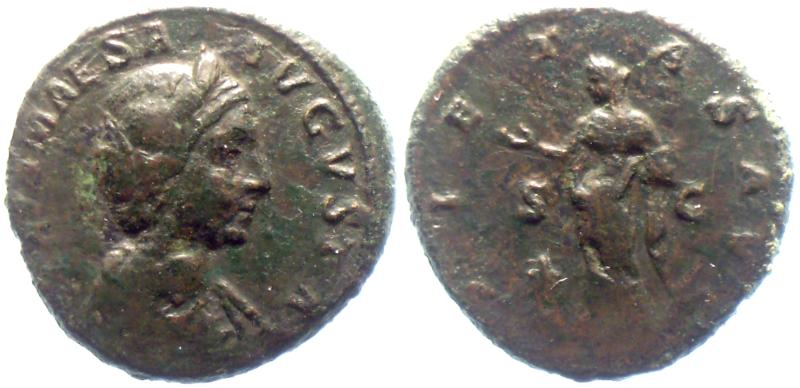 Römisches Reich Julia Maesa Rome mint As RIC 415 As 218-222 AD. n VF